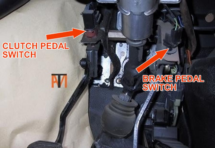 Brake and clutch pedal switches