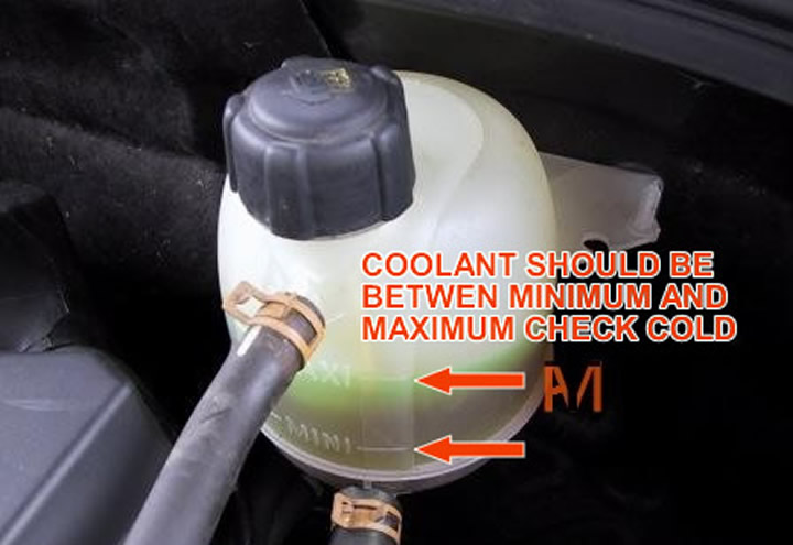 Check coolant level