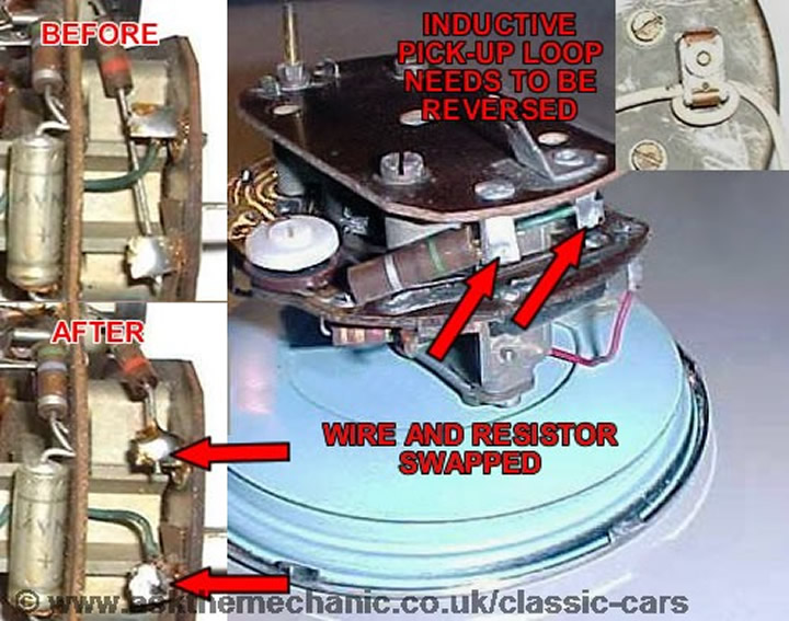 Induction Amp Meter Pick Up : Sunbeam alpine positive to negative earth