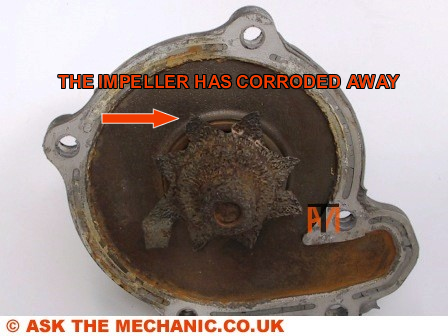 Corroded Micra Water Pump