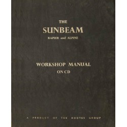 Sunbeam Rapier III-IV & Alpine I-IV Work Shop Manual WSM 124/10 1966