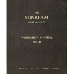 Sunbeam Rapier III-IV & Alpine I-IV Work Shop Manual WSM 124/10 1966