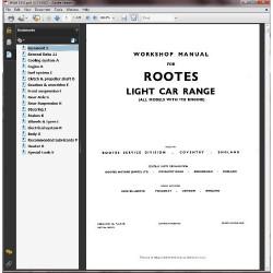 Sunbeam Rapier V Workshop Manual WSM145