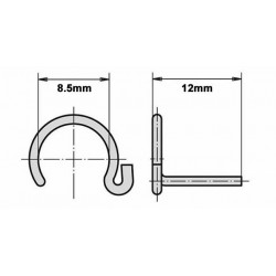10mm Ball Socket & Socket Stud Safety/Retaining Clips x2