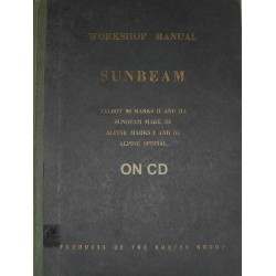 1956 Sunbeam Workshop Manual WSM 110 : KG 257
