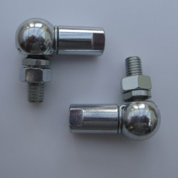 Pair of 13mm ball & socket joint M8 Right Hand Thread F