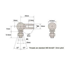 HID Threaded Stud Rod Left Hand/Right Hand Thread